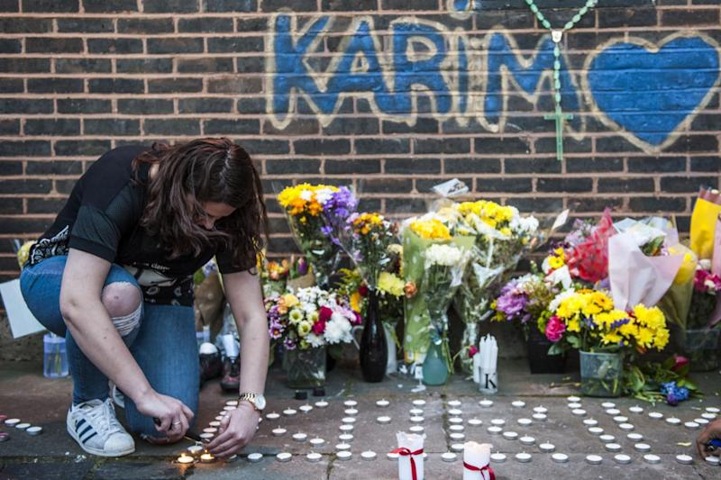 A vigil was held for teenager Karim Samms after he was shot dead (Lucy Young)