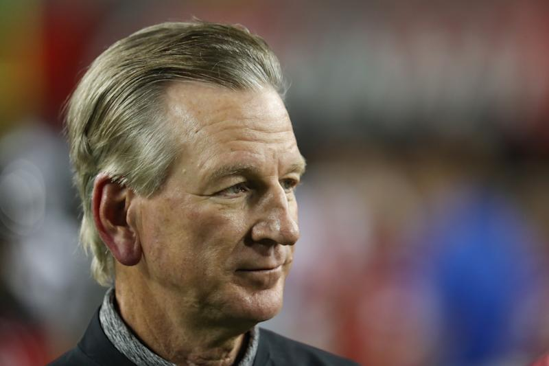Tommy Tuberville has repeatedly tried to link his campaign to President Donald Trump. (Photo by Ian Johnson/Icon Sportswire via Getty Images)