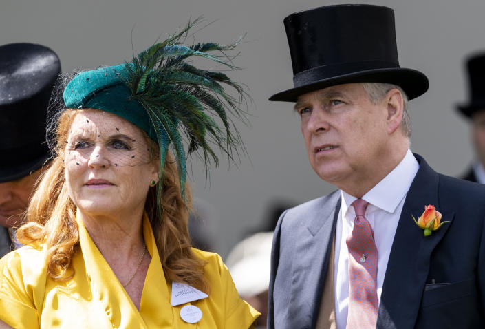 November 21st 2019 - Prince Andrew The Duke of York and Sarah Ferguson The Duchess of York relationship and reconciliation rumors continue to swirl amid the Prince Andrew / Jeffrey Epstein scandal. - File Photo by: zz/KGC-178/STAR MAX/IPx 2019 6/21/19 Sarah Ferguson The Duchess of York and Prince Andrew The Duke of York at Royal Ascot Day Four at Ascot Racecourse. (Ascot, Berkshire, England, UK)
