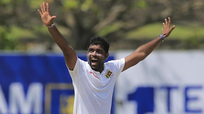 Dilruwan Perera has led Sri Lanka's spin attack to crush South Africa on day two of the first Test