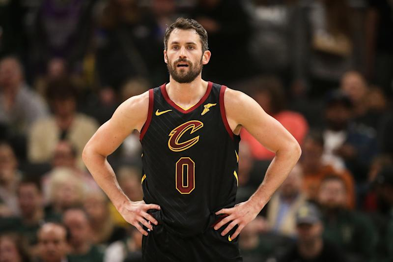 """Kevin Love detailed the decision to come public about his battles with mental health on Tuesday's episode of """"The Shop."""""""