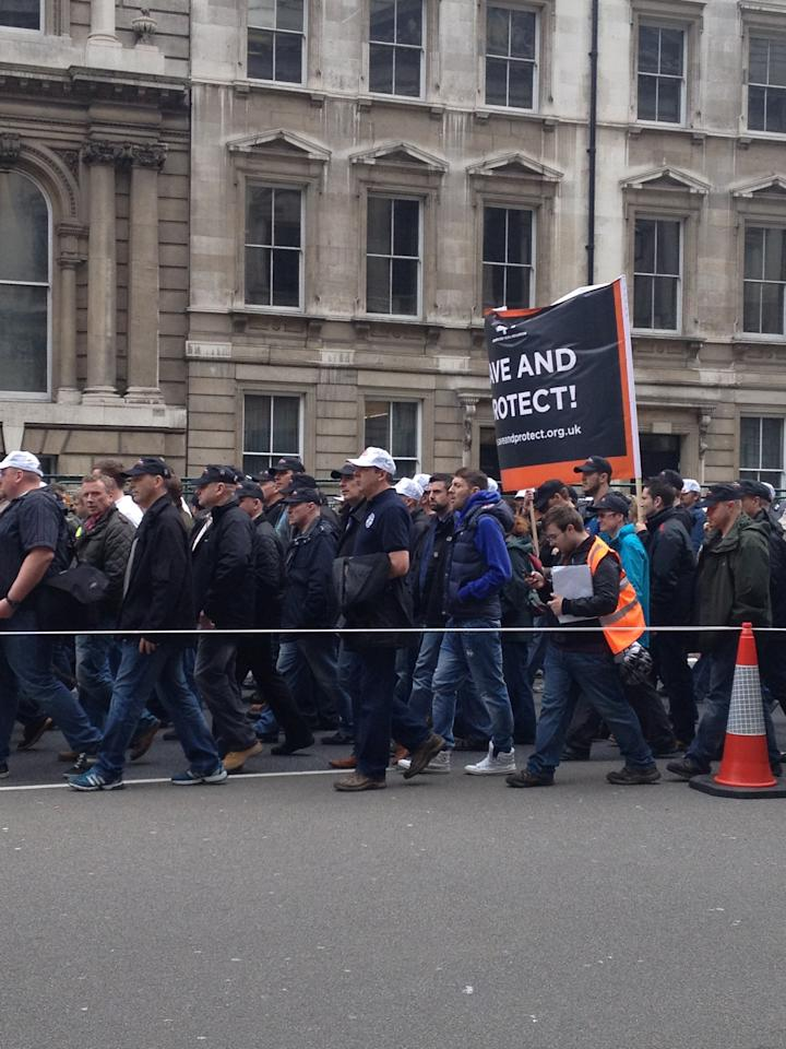 London police protest