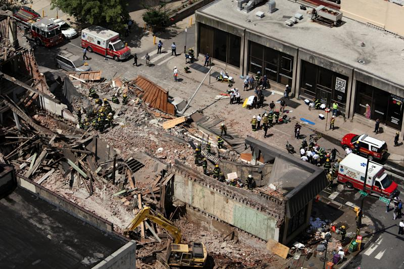 Pa. building collapses; 12 injured, 2 trapped
