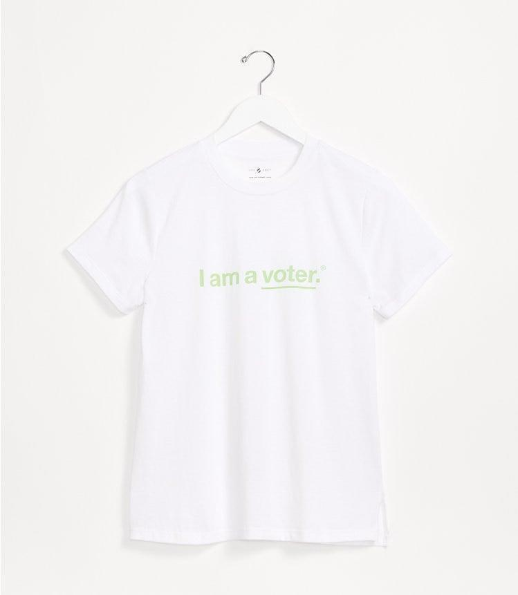 <p>Make a statement with the <span>Lou & Grey I Am a Voter Softserve Tee</span> ($38).</p>