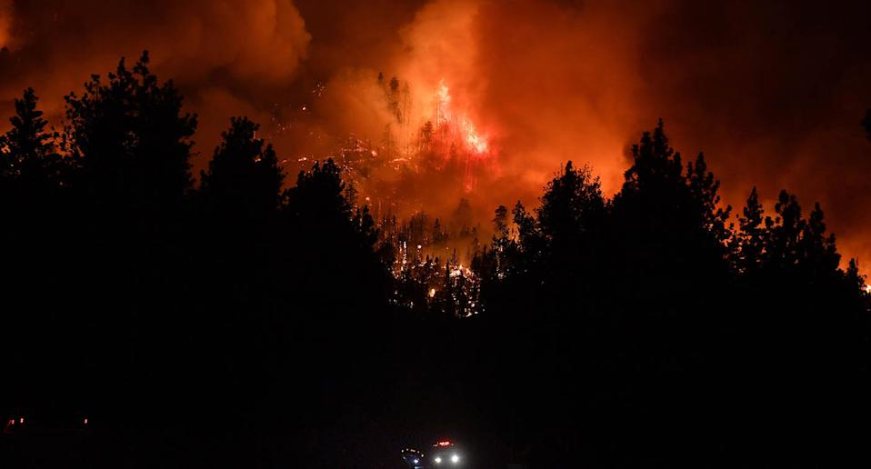 The out-of-control El Dorado Fire burned for 23 days, burning 22, 000 acres and killing a firefighter. Source: Getty