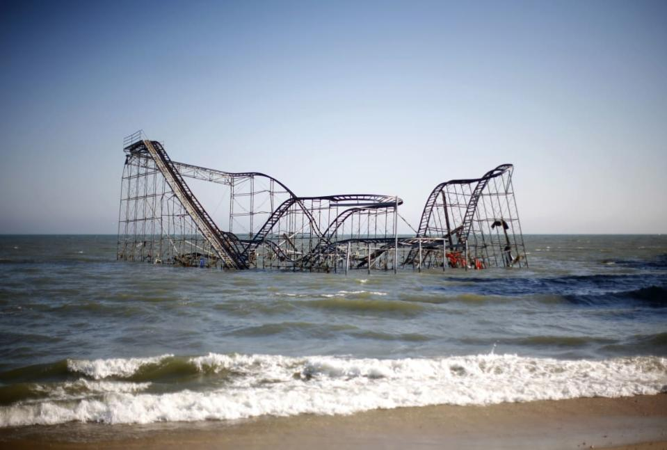 "<div class=""inline-image__caption""><p>A roller coaster is seen in the ocean in the aftermath of Hurricane Sandy in Seaside Heights, New Jersey November 11, 2012.</p></div> <div class=""inline-image__credit"">Eric Thayer/Reuters</div>"