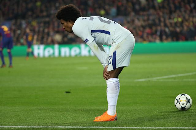 Soccer Football - Champions League Round of 16 Second Leg - FC Barcelona vs Chelsea - Camp Nou, Barcelona, Spain - March 14, 2018 Chelsea's Willian looks on REUTERS/Susana Vera