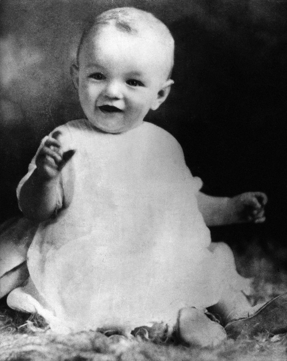 <p>On June 1, 1926, a Hollywood icon was born, and 10 months later, this photo was taken, giving the world a look at Marilyn Monroe, when she was still Norma Jeane Baker. <br></p>