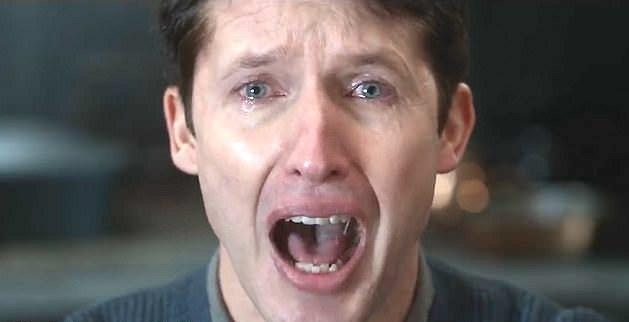 "James Blunt breaks down in the music video for ""Monsters."" (Photo: Atlantic Records)"