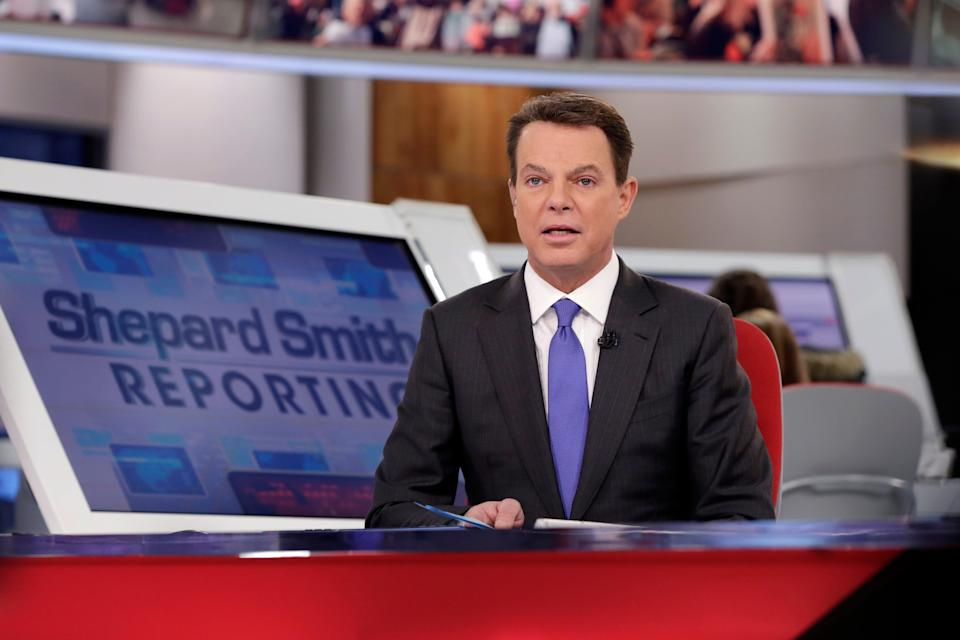 Fox News host Shepard Smith, seen here in 2017, announced on the air Friday that he's leaving the cable network.
