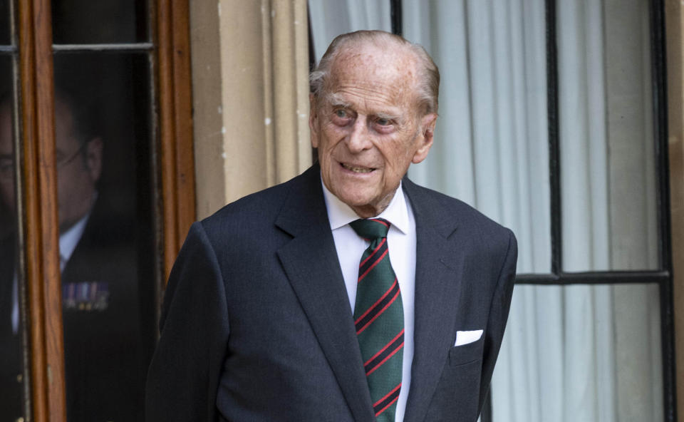 Photo by: KGC-178/STAR MAX/IPx 2020 7/22/20 Prince Philip, Duke of Edinburgh during the transfer of the Colonel-in-Chief of The Rifles at Windsor Castle.