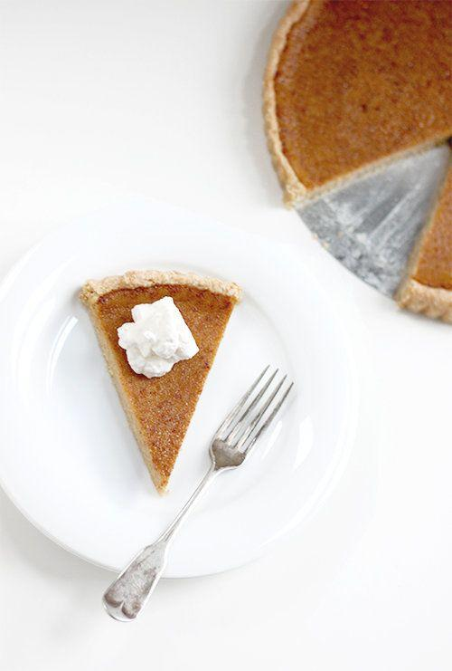 """<strong>Get the <a href=""""http://www.thefauxmartha.com/2013/11/20/maple-pumpkin-pie/"""" rel=""""nofollow noopener"""" target=""""_blank"""" data-ylk=""""slk:Maple Pumpkin Pie recipe"""" class=""""link rapid-noclick-resp"""">Maple Pumpkin Pie recipe</a> from The Faux Martha</strong>"""