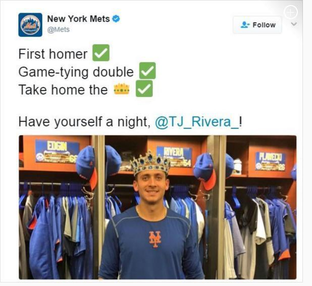 The Mets second and almost as awkward photo. (Mets)