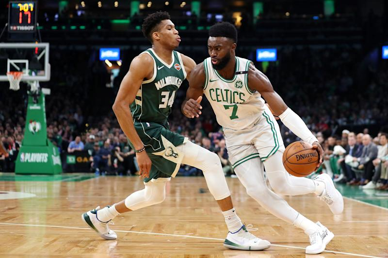 Jaylen Brown is one of six players joining Team USA's training roster for the FIBA World Cup. (Photo by Maddie Meyer/Getty Images)