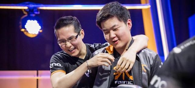 Huni and YellOwStaR, members of the 2015 Fnatic roster (lolesports)
