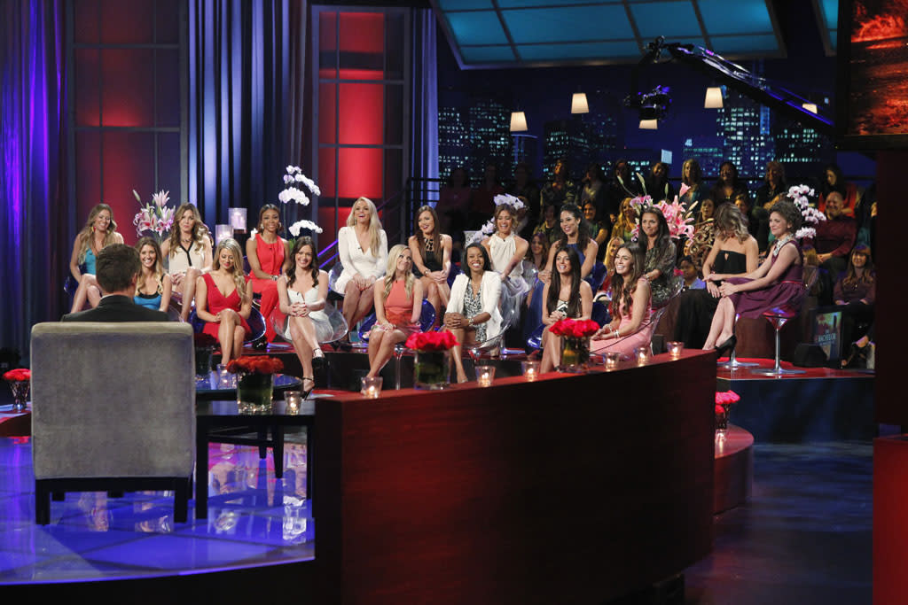 """""""The Women Tell All"""" - There were highs and lows during Sean's unforgettable season - and then there was Tierra, the most controversial bachelorette of the group. Tierra, who has been the woman viewers and the other bachelorettes have loved to hate all season, will return to have her chance to defend herself. Will she apologize for her behavior? Will she fight back and be her fiery self, or will viewers see another side of her? It's an explosive reunion viewers won't want to miss, as the most memorable and fan favorite bachelorettes from this season - including AshLee, Desiree, Lesley M., Tierra, Selma, Sarah, Kacie B. -- return to confront each other and Sean one last time on national television to tell their side of the story. Sarah seeks closure from Sean; Desiree explains about her journey of self-discovery; and a devastated AshLee reveals what she was thinking when Sean let her go in Thailand. Follow Sean and Chris on the Bachelor Bus as they shock fans at their viewer parties in the Los Angeles area, and take a sneak peek at the Season Finale and the final two bachelorettes - Catherine and Lindsay -- on """"The Bachelor: The Women Tell All."""""""