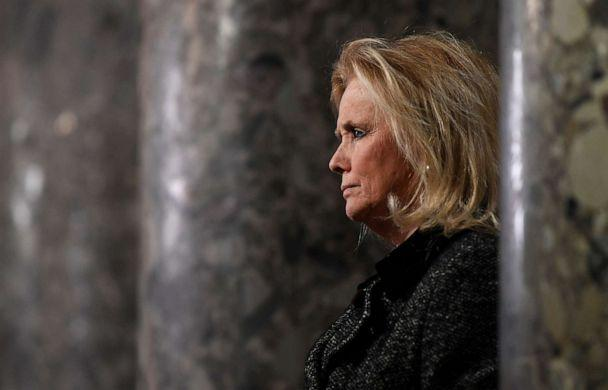 PHOTO: Rep. Debbie Dingell speaks to reporters on Capitol Hill in Washington, D.C., Dec. 18, 2019. (Susan Walsh/AP)