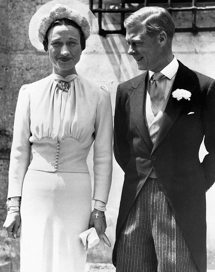 """<p>One of the most famous royal wedding scandals of all time has already been covered by <em><a href=""""https://www.harpersbazaar.com/culture/film-tv/g15951860/the-crown-tv-show-trivia-facts/"""" rel=""""nofollow noopener"""" target=""""_blank"""" data-ylk=""""slk:The Crown"""" class=""""link rapid-noclick-resp"""">The Crown</a> </em>and involves Edward VIII. When the king fell in love with <a href=""""https://www.britannica.com/biography/Wallis-Simpson"""" rel=""""nofollow noopener"""" target=""""_blank"""" data-ylk=""""slk:Wallis Simpson"""" class=""""link rapid-noclick-resp"""">Wallis Simpson</a>, an American divorcee, scandal ensued. Their relationship began as an affair, while Simpson was still married to her second husband, who she later divorced to be with Edward. At the time, divorce was frowned upon, and the thought of a monarch marrying a divorcee was unheard of. Per <em><a href=""""https://www.historyextra.com/period/20th-century/edward-viii-wallis-simpson-relationship-abdication-abdicate-when-why-reign-short-marriage/"""" rel=""""nofollow noopener"""" target=""""_blank"""" data-ylk=""""slk:History Extra"""" class=""""link rapid-noclick-resp"""">History Extra</a></em>, """"Edward's reign lasted just 324 days before he abdicated to marry the woman he loved."""" The couple was married in France on June 3, 1937.</p>"""