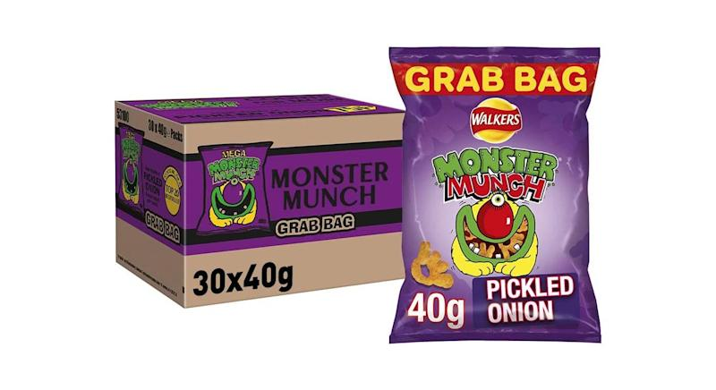Pack of 30 Walkers Crisps Monster Munch