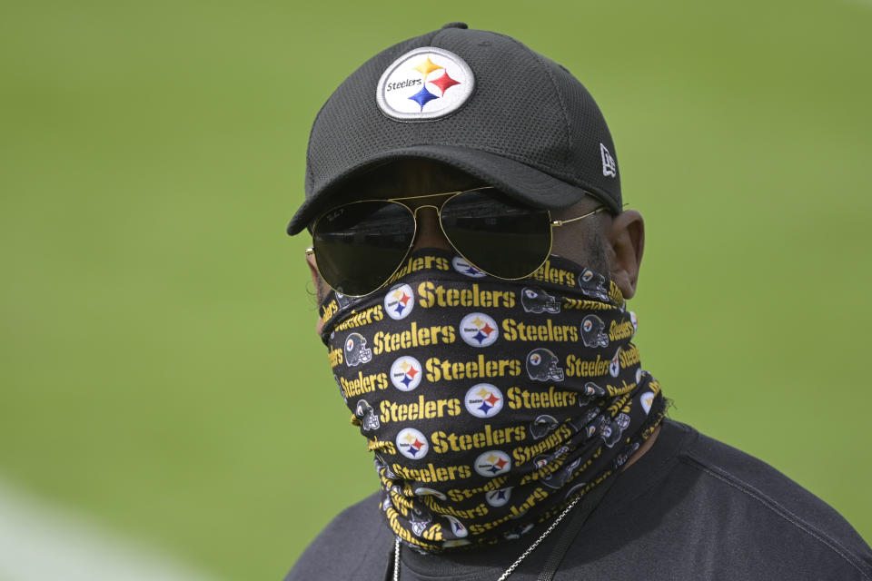 Mike Tomlin has his Pittsburgh Steelers at 10-0 despite postponed games and other challenges. No excuses. (AP Photo/Phelan M. Ebenhack)