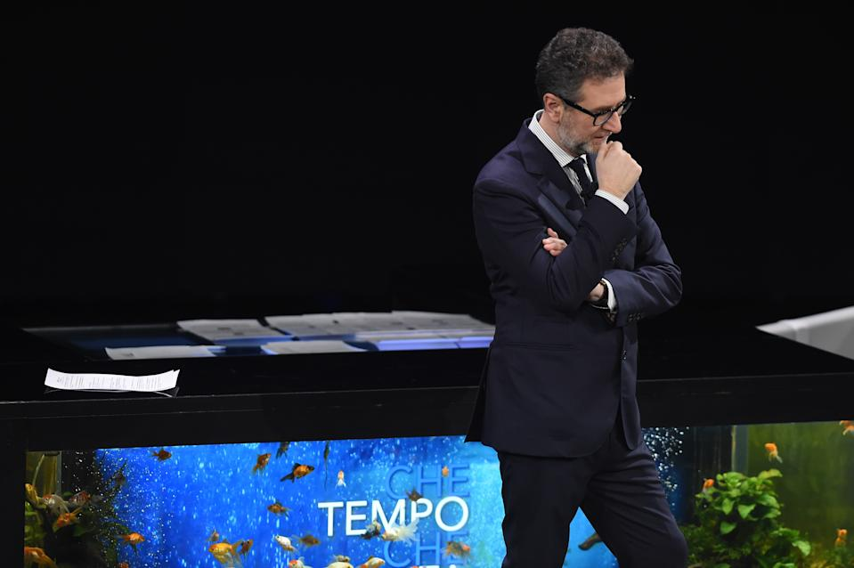 MILAN, ITALY - FEBRUARY 09:  Fabio Fazio attends Che Tempo Che Fa TV Show on February 09, 2020 in Milan, Italy. (Photo by Stefania D'Alessandro/Getty Images)