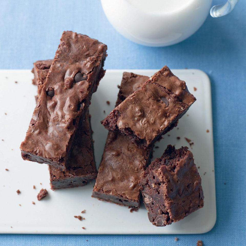"""Crisped rice cereal is the secret ingredient that lightens up these brownies and adds pops of crunch. <a href=""""https://www.epicurious.com/recipes/food/views/ssc-brownies-366971?mbid=synd_yahoo_rss"""" rel=""""nofollow noopener"""" target=""""_blank"""" data-ylk=""""slk:See recipe."""" class=""""link rapid-noclick-resp"""">See recipe.</a>"""