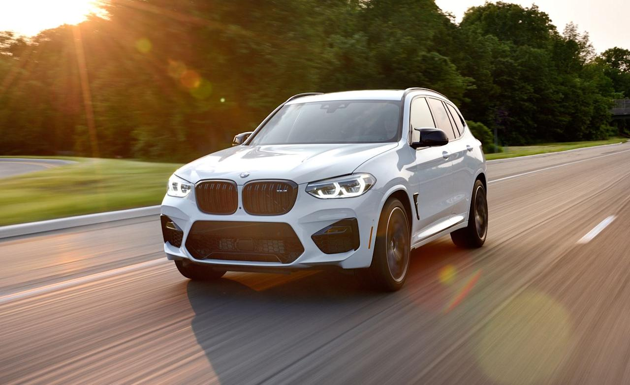 <p>The additional 30 horsepower in the X3 M Competition comes thanks to slightly greater turbo boost and a less restrictive exhaust system.</p>