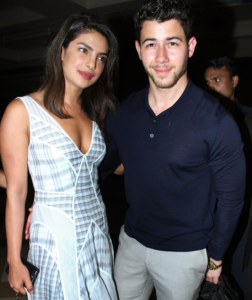 <p>Priyanka Chopra and American singer Nick Jonas got engaged this weekend in Mumbai. Priyanka and Nick met for the first time at Met Gala event and since then they are spotted together at various events, family functions and vacations. </p>