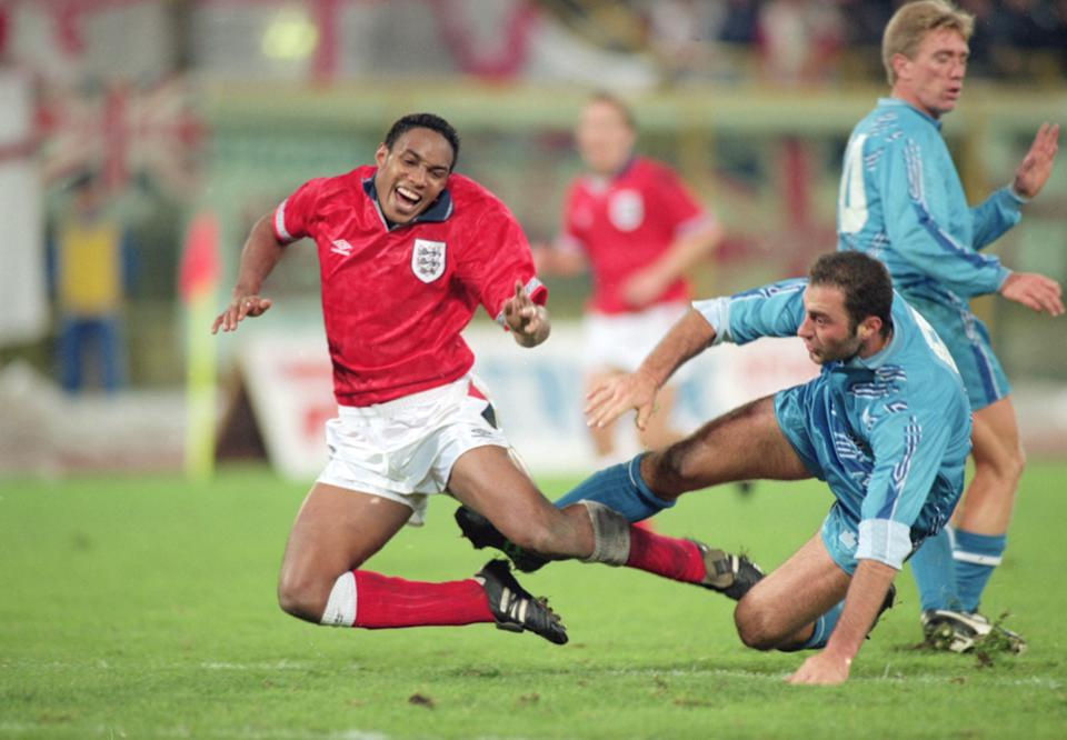 <p>Paul Ince in action against San Marino</p>Getty Images