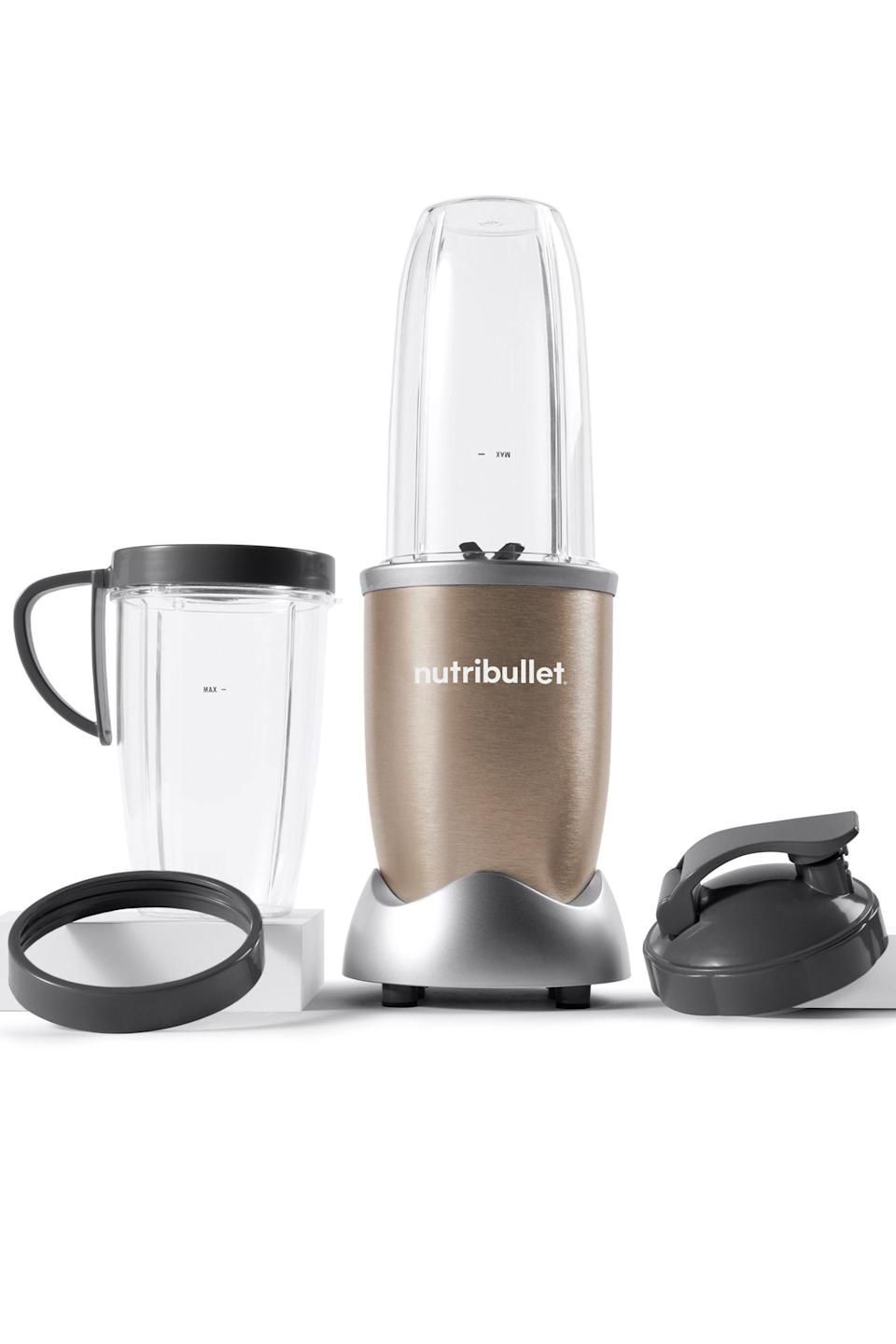 """<p><strong>NutriBullet</strong></p><p>walmart.com</p><p><strong>$79.00</strong></p><p><a href=""""https://go.redirectingat.com?id=74968X1596630&url=https%3A%2F%2Fwww.walmart.com%2Fip%2F46275746&sref=https%3A%2F%2Fwww.elle.com%2Ffashion%2Fg28509176%2Fcozy-gift-guide%2F"""" rel=""""nofollow noopener"""" target=""""_blank"""" data-ylk=""""slk:Shop Now"""" class=""""link rapid-noclick-resp"""">Shop Now</a></p><p>""""I don't like to eat breakfast; I like to drink it. Every morning, on my way to work, I'd spend $9.20 on my favorite cold brew smoothie from a spot near my office. Of course, I haven't been able to frequent said shop, but found the next best thing—and for a fraction of the cost. My Nutribullet has gotten plenty of use over the past eight-plus weeks, and makes morning smoothie time quick, fast, and easy. I'm in control of what goes into my brew, and spend that same $9.20 on ingredients that'll yield a week's worth of a.m. delights.""""– Angel Lenise Pyles, Supervising Video Producer </p>"""