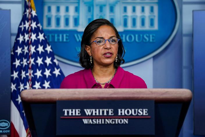 """<p>""""The president will sign an executive order directing the Department of Justice not to renew any contracts with private prison,"""" says Susan Rice.</p> (Drew Angerer/Getty Images)"""