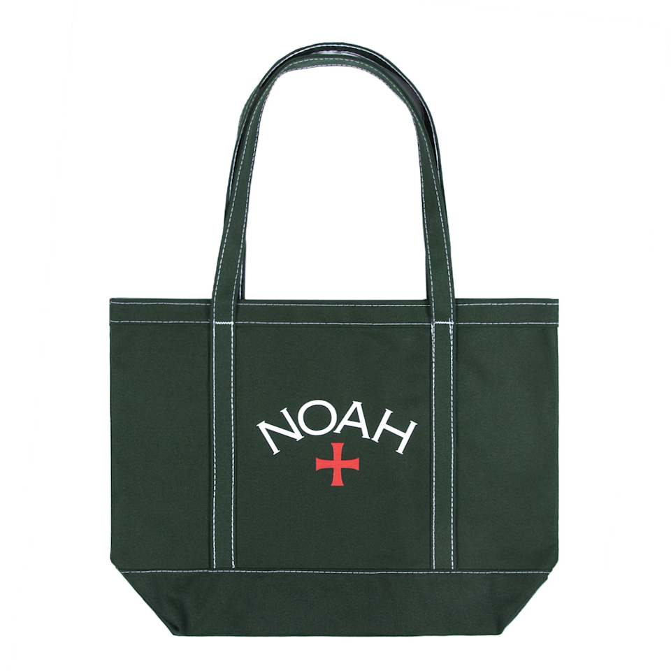 "An upgrade from their overflowing collection of canvas tote bags. <br><br><strong>Noah</strong> Contrast Stitch Tote, $, available at <a href=""https://go.skimresources.com/?id=30283X879131&url=https%3A%2F%2Fnoahny.com%2Fcollections%2Fbags%2Fproducts%2Fcontrast-stitch-tote%3Fcolor%3DHunter%2520Green"" rel=""nofollow noopener"" target=""_blank"" data-ylk=""slk:Noah"" class=""link rapid-noclick-resp"">Noah</a>"