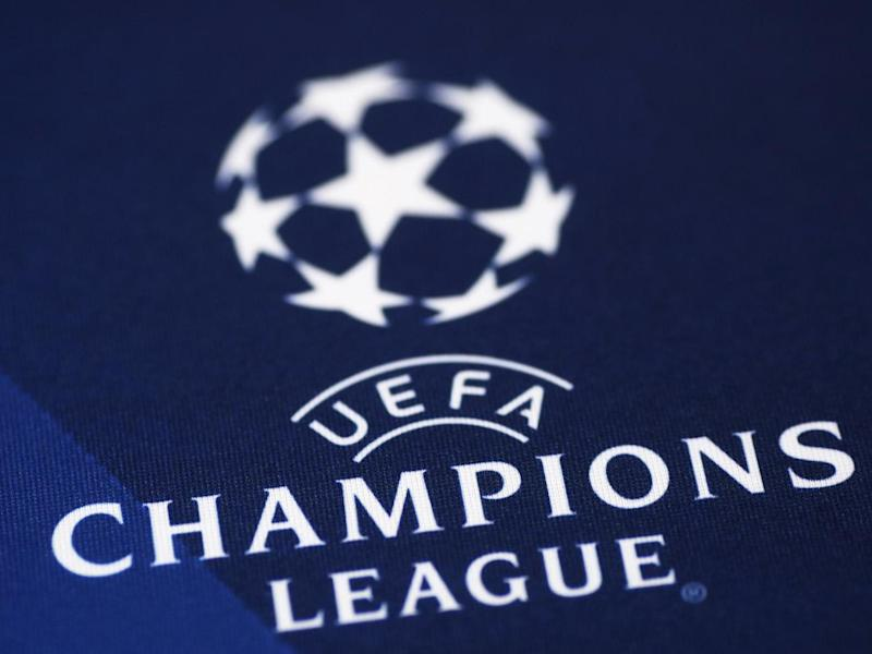 A picture shows the UEFA Champions League logo: AFP/Getty Images