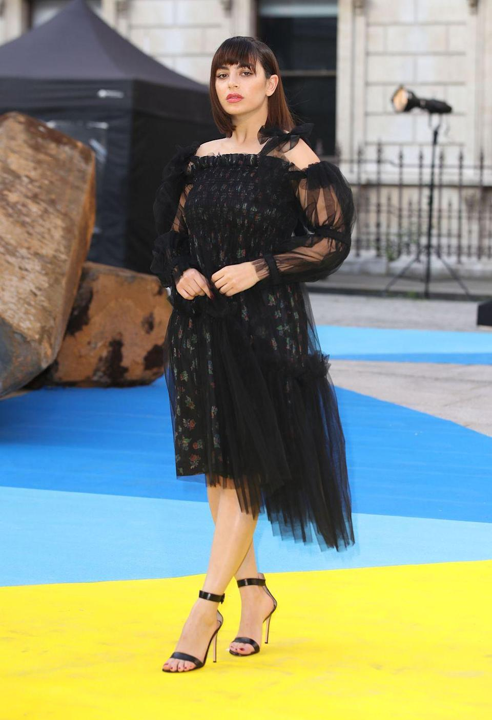<p>The singer wore Molly Goddard to the Royal Academy Of Arts summer party.</p>