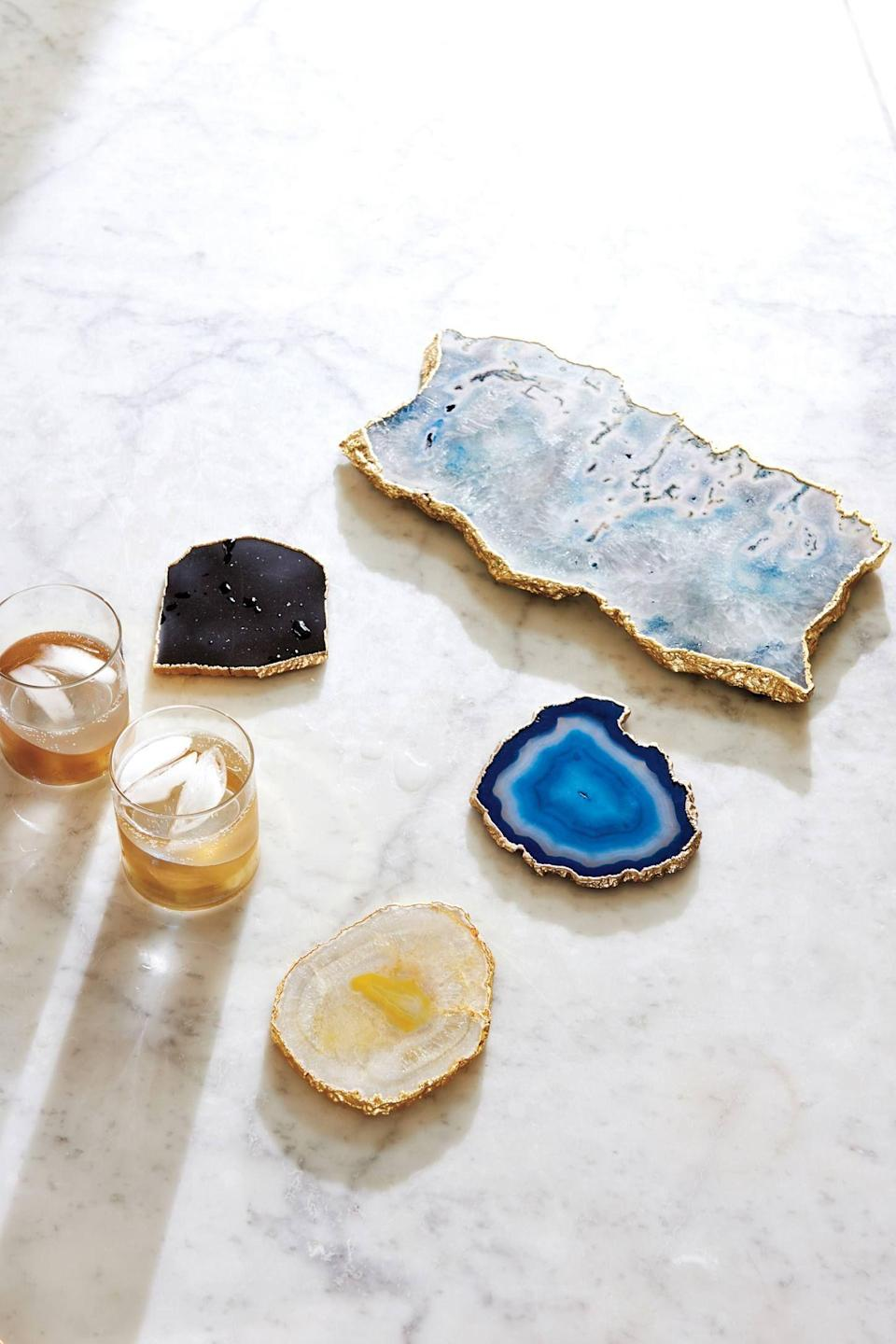 """<p><strong>Anthropologie</strong></p><p>anthropologie.com</p><p><strong>$14.00</strong></p><p><a href=""""https://go.redirectingat.com?id=74968X1596630&url=https%3A%2F%2Fwww.anthropologie.com%2Fshop%2Fgeode-coaster&sref=https%3A%2F%2Fwww.delish.com%2Fkitchen-tools%2Fg4499%2Fbest-friend-gifts%2F"""" rel=""""nofollow noopener"""" target=""""_blank"""" data-ylk=""""slk:BUY NOW"""" class=""""link rapid-noclick-resp"""">BUY NOW</a></p><p>The prettiest place for her drinks.</p>"""