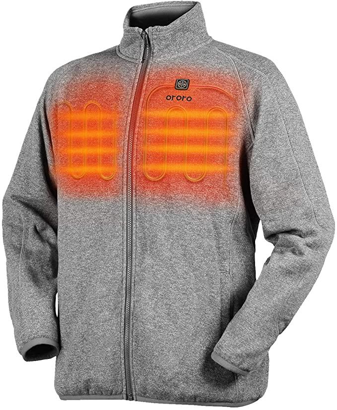 Men's Heated Jacket-Full Zip Fleece. Image via Amazon.