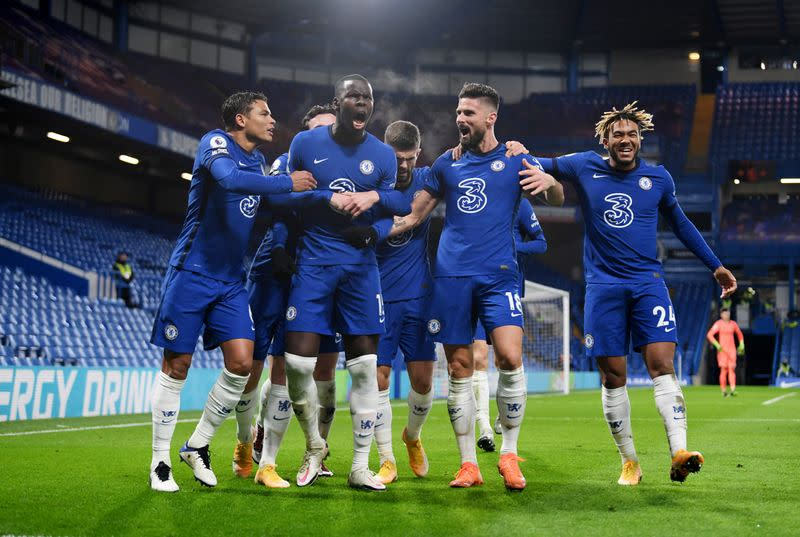Chelsea move top, Man City and United win as fans return
