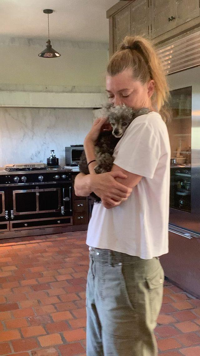 """<p>Ellen Pompeo honored her 16-year-old <a href=""""https://www.dailypaws.com/dogs-puppies/dog-breeds/toy-poodle"""" rel=""""nofollow noopener"""" target=""""_blank"""" data-ylk=""""slk:toy poodle"""" class=""""link rapid-noclick-resp"""">toy poodle</a> Valentino with a touching Instagram clip of the two of them hugging on Feb. 5.</p> <p>""""Everyone who knows me knows our bond was on another level... what a blessing this bond was,"""" she wrote in the clip's caption. """"As heartbroken as I am I will remember the good times💔""""</p>"""