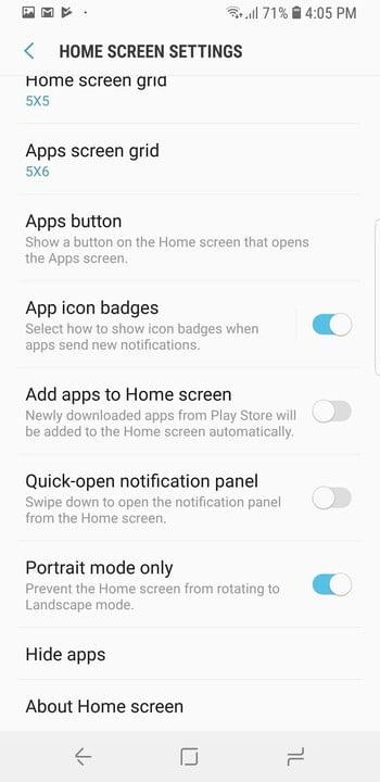 galaxy s9 tips and tricks hide apps