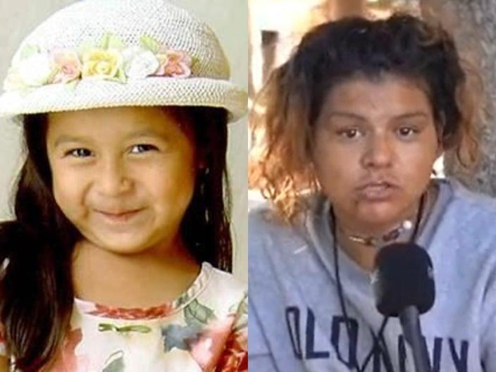 <p>Sofia Juarez (left) was abducted the day before her fifth birthday in 2003. Now police are investigating after a woman interviewed in a TikTok video (right) said she may have been kidnapped</p> (Kennewick police department/ TikTok)