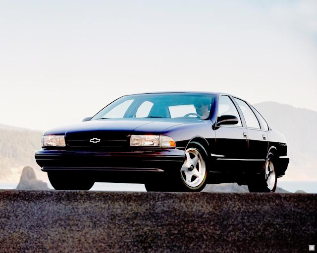 <p>Our story leaps ahead nearly decade. The Caprice is Chevrolet's full-sized sedan <em>du juor</em>, and Chevrolet is eager to revive its performance nameplates on the B platform. Rather than simply introducing a hotted-up Caprice, GM decided to bring back the Impala. </p> <p>A Caprice in everything but name, the 1994-1996 Impala SS was effectively a halo sedan for General Motors. It boasted legitimate performance credentials thanks to a standard Corvette-sourced 5.7L (350 ci) V8 and a limited-slip differential. It also sat lower than the Caprice and was fitted with a beefed-up suspension. A Callaway-tuned SS was offered with more than 400 horsepower. Sadly, the factory SS's detuned 5.7L made only 260. </p> <p>This is one of the shortest-running generations of the Impala, and it was also capped off with yet another moment of bitter finality: In December, 1996, GM axed the entire B-Body lineup, ending its legacy of full-size, rear-wheel-drive sedans under mainstream nameplates. </p> <p>Stop us if you've heard this one, but GM axed the Impala, Caprice, and Roadmaster to make room for — wait for it — higher-margin SUVs. </p>