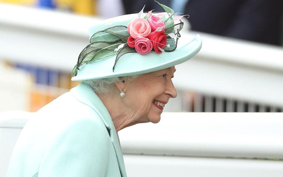 The Queen was not wearing a face mask because of Ascot's status as a test event - Peter Cziborra/Action Images via Reuters