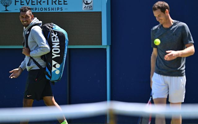 Nick Kyrgios has raised the possibility of being coached by Andy Murray in the future - AFP