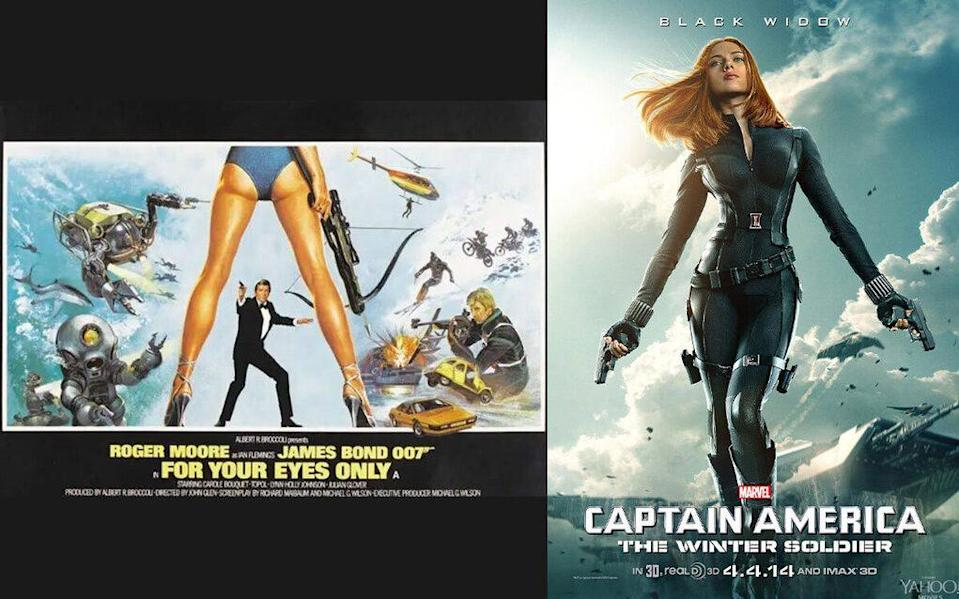 The 'enchanced' posters for For Your Eyes Only and Captain America: Civil War