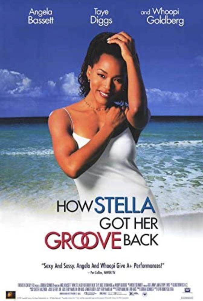 """<p>Looking for a getaway, 40-year-old Stella (Angela Bassett) takes off to Jamaica with her best friend Delilah (Whoopi Goldberg). The vacation turns into a full-blown romance when she meets and falls in love a much younger guy in his 20s (Taye Diggs). </p><p><a class=""""link rapid-noclick-resp"""" href=""""https://www.amazon.com/How-Stella-Got-Groove-Back/dp/B001LGW1LI?tag=syn-yahoo-20&ascsubtag=%5Bartid%7C10063.g.35083114%5Bsrc%7Cyahoo-us"""" rel=""""nofollow noopener"""" target=""""_blank"""" data-ylk=""""slk:STREAM IT HERE"""">STREAM IT HERE</a></p>"""
