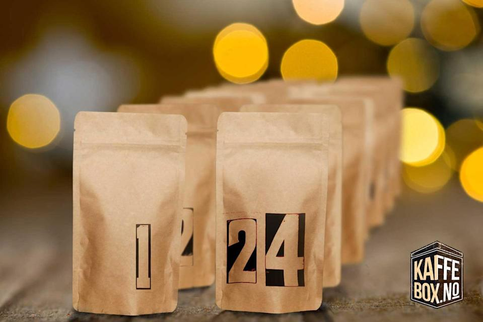 """<p>Enjoy 24 days of amazing coffee from 12 of the top Scandinavian speciality micro roasters. Each day of advent features a unique 50-gram sample of speciality Christmas coffee.</p><p>£99 <a href=""""http://www.kaffebox.no/scandinavian-specialty-coffee-advent-calendar/"""" rel=""""nofollow noopener"""" target=""""_blank"""" data-ylk=""""slk:Kaffee Box. No"""" class=""""link rapid-noclick-resp"""">Kaffee Box. No</a></p>"""