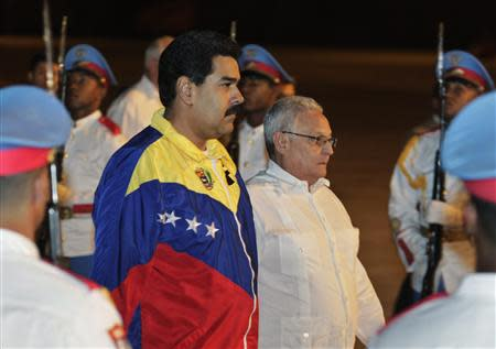 Venezuela's President Maduro arrives at the Jose Marti International Airport in Havana