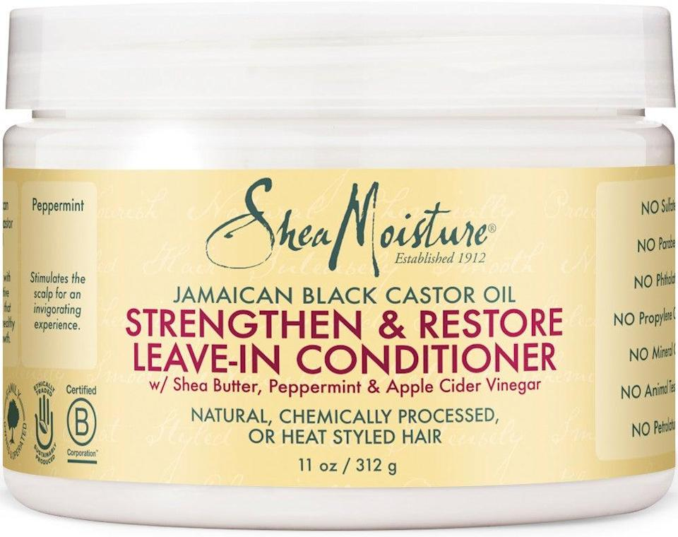 "<h3><strong>SheaMoisture</strong> Strengthen & Restore Leave-In Conditioner</h3> <br><strong>Best For Frizz</strong><br><br>""My favorite leave-in is Shea Moisture's,"" says <a href=""https://www.instagram.com/daniellepriano/?hl=en"" rel=""nofollow noopener"" target=""_blank"" data-ylk=""slk:Danielle Priano"" class=""link rapid-noclick-resp"">Danielle Priano</a>, who works with Selena Gomez and several Victoria's Secret Angels. ""I would only use this one if you're going to wear your hair curly to keep the frizz out. If you have thin, straight hair, it will make it look a bit greasy.""<br><br><strong>SheaMoisture</strong> Jamaican Black Castor Oil Leave-In Conditioner, $, available at <a href=""https://go.skimresources.com/?id=30283X879131&url=https%3A%2F%2Fwww.ulta.com%2Fjamaican-black-castor-oil-strengthen-restore-leave-in-conditioner%3FproductId%3DxlsImpprod11361003"" rel=""nofollow noopener"" target=""_blank"" data-ylk=""slk:Ulta Beauty"" class=""link rapid-noclick-resp"">Ulta Beauty</a><br><br><br>"