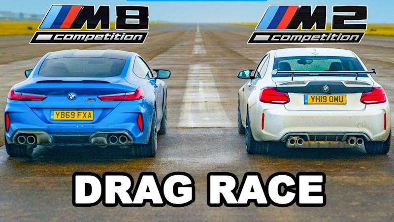 M2 vs M8 Drag Race Lead