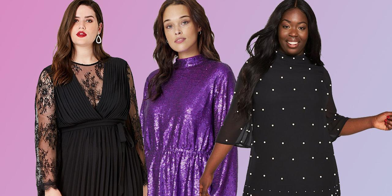 <p>Sequin season is here, so we've rounded up the best plus-size party dresses on the high street. From ASOS, to Simply Be and River Island, these dresses will make you want to skip that last train home and order a cheeky Uber. </p>